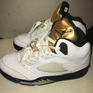 Nike Air Jordan gold medal 5